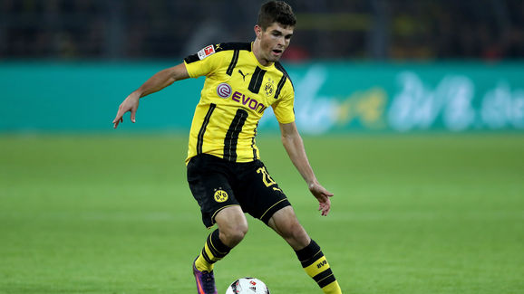 dortmund youngster christian pulisic hails impact english football has had on his career 90min. Black Bedroom Furniture Sets. Home Design Ideas