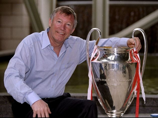 Alex Ferguson with the European Cup