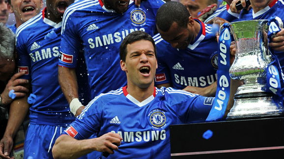 Chelsea's Michael Ballack (Foreground) c