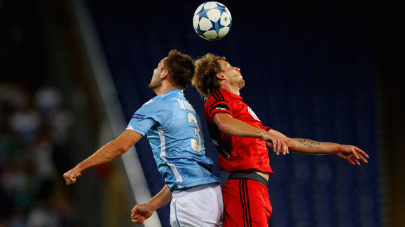 SS Lazio v Bayer Leverkusen - UEFA Champions League: Qualifying Round Play Off First Leg