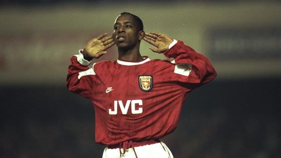 Ian Wright of Arsenal