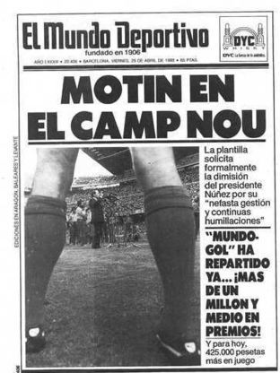 'Mutiny in the Camp Nou'