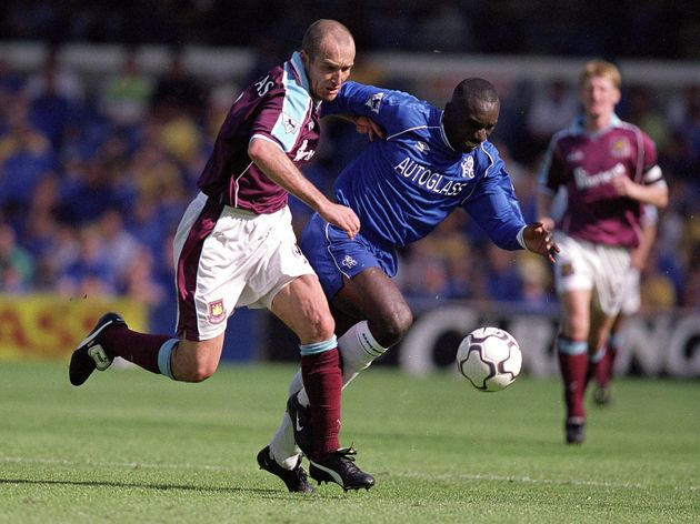 Javier Margas and  Jimmy Floyd Hasselbaink