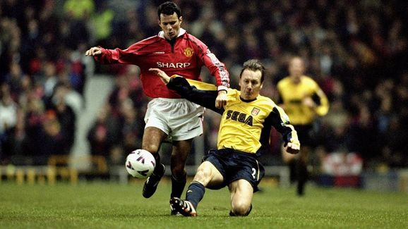 Ryan Giggs and Lee Dixon