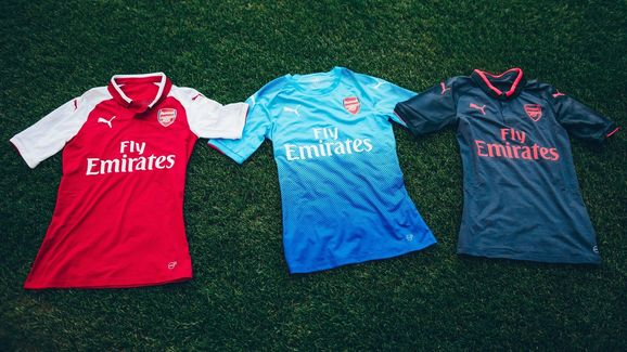 6015ad12 PHOTOS: Arsenal Launch New Blue PUMA Away Strip to Complete 2017/18 ...