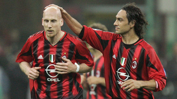 AC Milan's defender Dutch Jaap Stam his