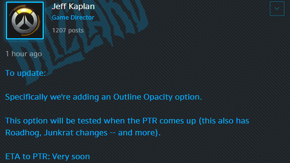 Crosshairs and Roadhog Changes to be Implemented in Next PTR | 90min