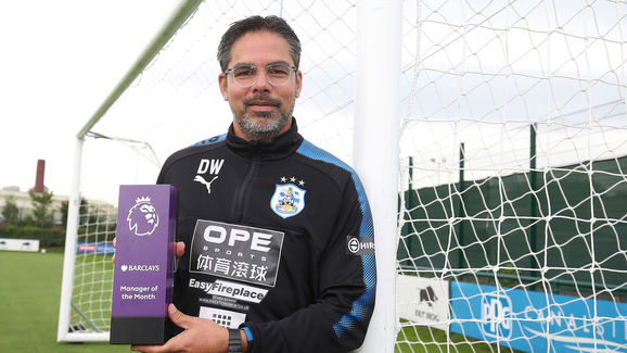 David Wagner wins Barclays Manager of the Month Award