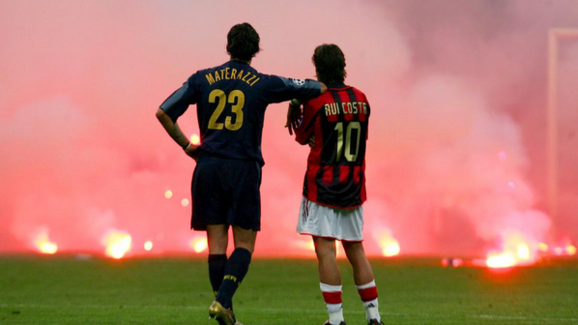 The infamous picture from the 2005 Champions League Quarter Final Clash