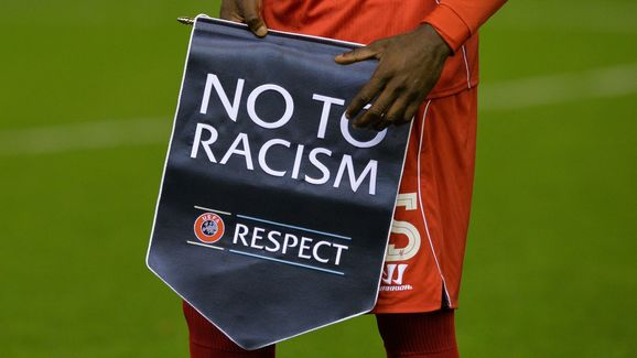 'Respect' anti-racism banner can be seen at most high profile games
