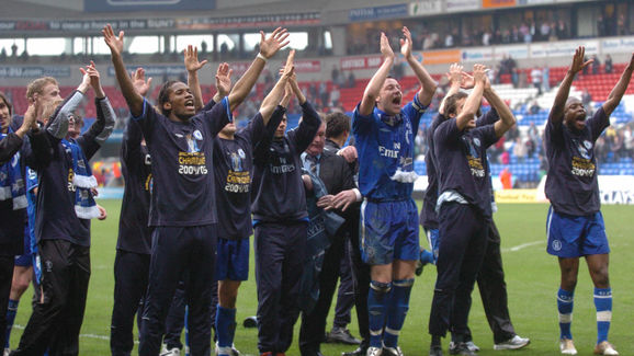 Chelsea salute their fans after their 2-