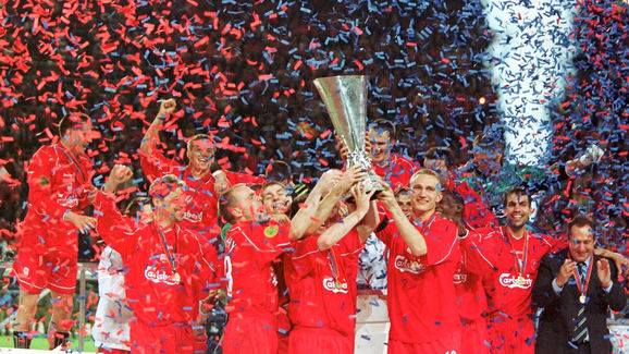 FUSSBALL/UEFA CUP FINALE 2001: LIVERPOOL - ALAVES 5:4 n.V.