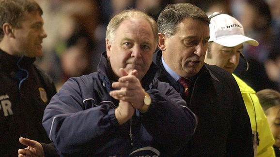 Craig Brown the manager of Preston with Graham Taylor