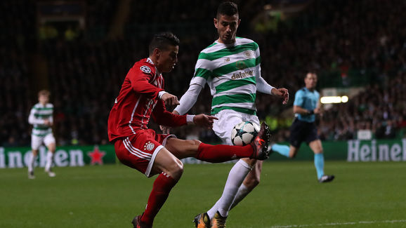 Rodriguez in action against Celtic