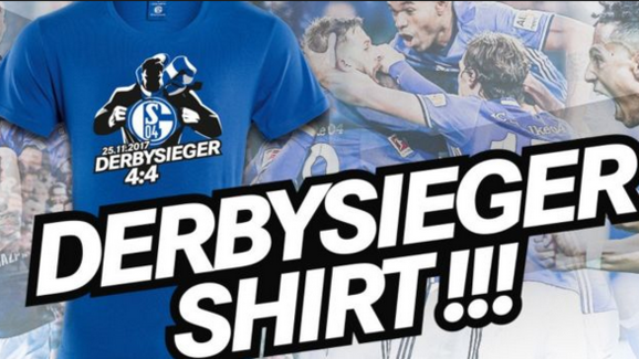 Schalke's New T-Shirt to Celebrate their remarkable comeback, via the Club's website.