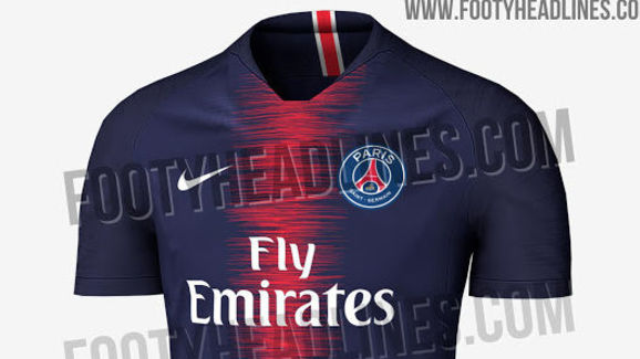 aed35998a PHOTO  Paris Saint-Germain s Stylish New Home Kit for 2018 19 Season ...