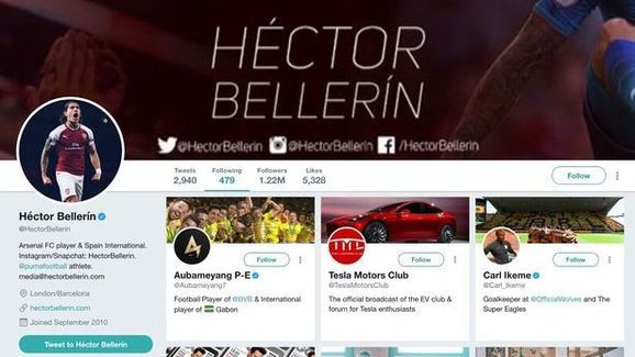 4be2654a7fa Arsenal s Hector Bellerin Drops Twitter Hint Over Reported Transfer ...