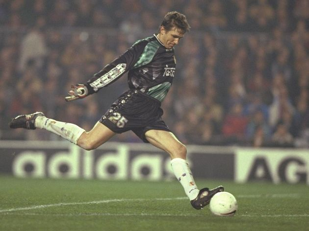 Bodo Illgner of Real Madrid in action