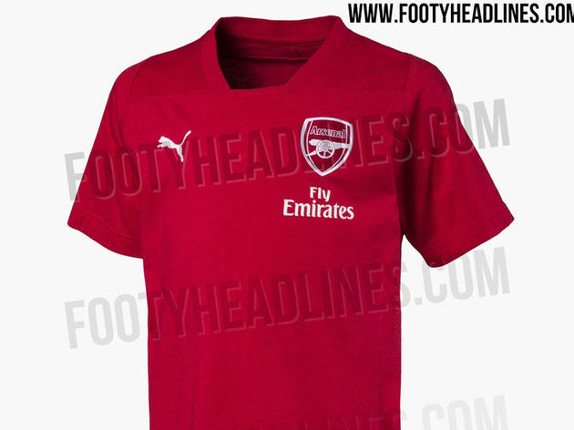 PHOTOS  Images of Arsenal s Potential 2018 19 Home Kit Leaked Online ... cbfed4980