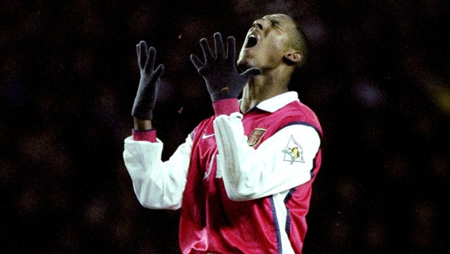 5 Dec 1998:  Nicolas Anelka of Arsenal goes close during the FA Carling Premiership match against Derby County at Pride Park in Derby, England. The game ended 0-0.   \ Mandatory Credit: Ross Kinnaird /Allsport