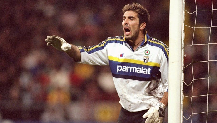 9 Mar 2000:  Gianluigi Buffon of Parma during the UEFA Cup fourth round second leg game between Werder Bremen and Parma at the Weserstadion in Bremen, Germany. The game ended 3-1 to Werder Bremen. \ Mandatory Credit: Alex Livesey /Allsport