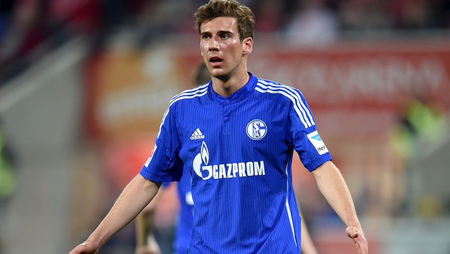 MAINZ, GERMANY - APRIL 24: Leon Goretzka of Schalke reacts during the Bundesliga match between 1. FSV Mainz 05 and FC Schalke 04 at Coface Arena on April 24, 2015 in Mainz, Germany.  (Photo by Matthias Hangst/Bongarts/Getty Images)
