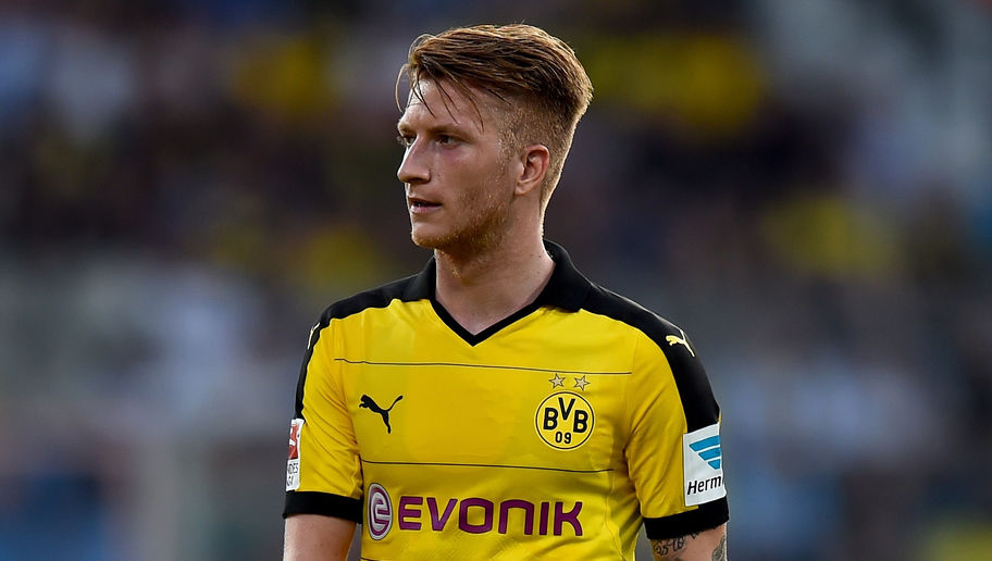BOCHUM, GERMANY - JULY 17:  Marco Reus of Dortmund looks on during a preseason friendly match between VfL Bochum and Borussia Dortmund at Rewirpower Stadium on July 17, 2015 in Bochum, Germany.  (Photo by Lars Baron/Bongarts/Getty Images)