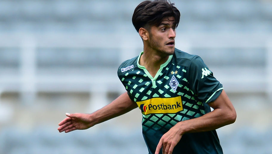 NEWCASTLE UPON TYNE, ENGLAND - AUGUST 1 : Mahmoud Dahoud of  Borussia Moenchengladbach in action during the Pre Season Friendly between Newcastle United and Borussia Moenchengladbach at St James' Park on August 1, 2015 in Newcastle Upon Tyne, England. (Photo by Mark Runnacles/Getty Images)