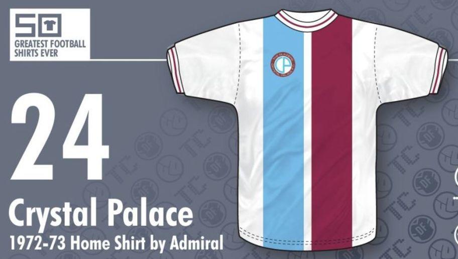 d039fecd83a34  Crystal Palace vistió esta camiseta histórica entre 1972 y 1973. Si bien  actualmente juega en la Premier League