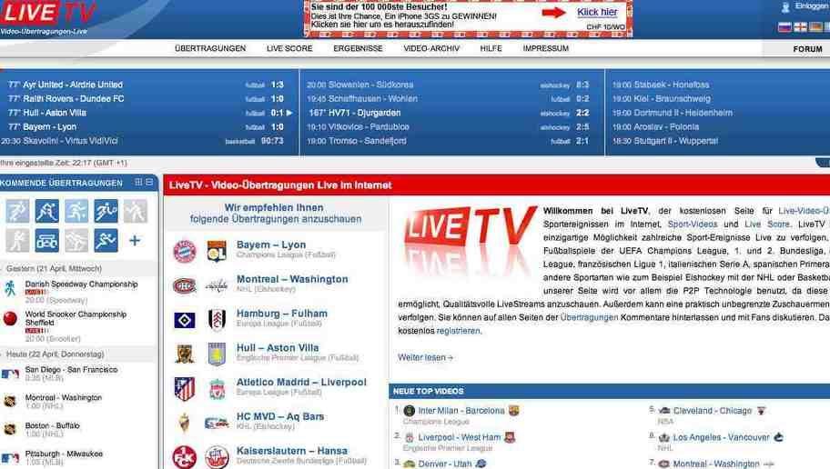 FuГџball Live Stream Kostenlos Ohne Anmeldung Bundesliga