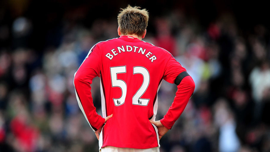 LONDON, ENGLAND - MARCH 06:  Nicklas Bendtner of Arsenal looks dejected after missing an easy chance during the Barclays Premier League match between Arsenal and Burnley at Emirates Stadium on March 6, 2010 in London, England.  (Photo by Mike Hewitt/Getty Images)