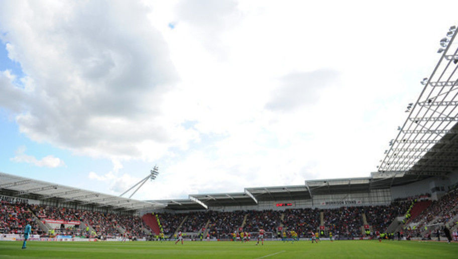 A general view of the action during the Sky Bet League One match between Rotherham United and Sheffield United at the New York Stadium on September 7, 2013 in Rotherham, England
