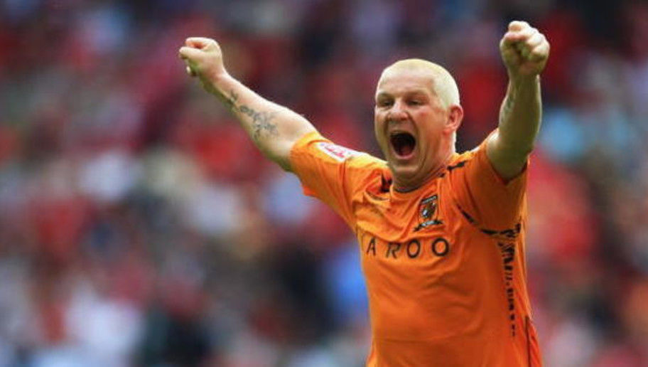 LONDON - MAY 24:  Dean Windass of Hull City celebrates victory following the Coca Cola Championship Playoff Final match between Hull City and Bristol City at Wembley Stadium on May 24, 2008 in London, England.  (Photo by Jamie McDonald/Getty Images)
