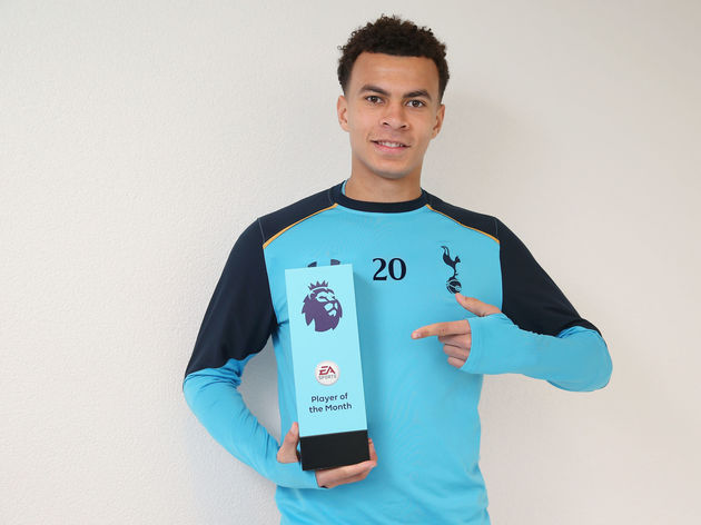 Dele Alli Receives the Premier League Player of the Month Award