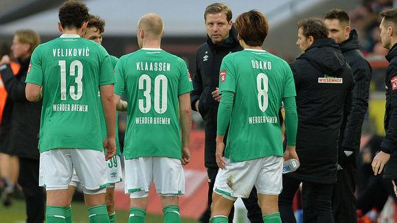 Milos Veljkovic,Davy Klaassen,Florian Kohfeldt,Yuya Osako