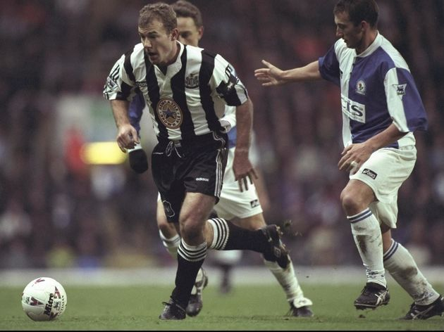 26 Dec 1996:  Alan Shearer in action for Newcastle in the Premier League match against Blackburn at