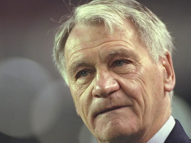 30 Jan 1997:  Portrait of Barcelona coach Bobby Robson during the Spanish Cup match against Real Mad