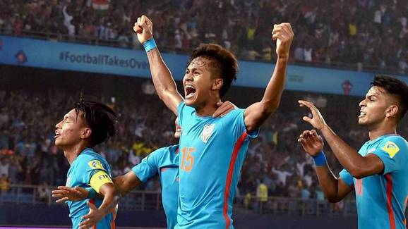 Jeakson Singh scored India's only goal at the U-17 World Cup