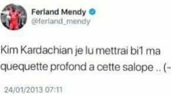 Ferland Mendy tweet
