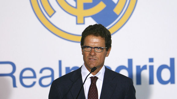 Fabio Capello speaks to the press after