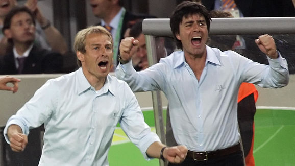 German head coach Juergen Klinsmann (L)