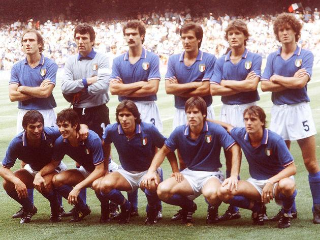 FUSSBALL: WM 1982 in Spanien Team/Mannschaft ITALIEN/ITA