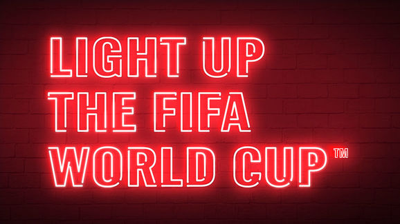 Bud Bot Light Up the FIFA World Cup