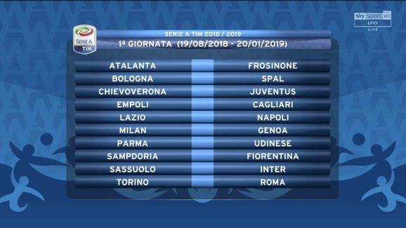 Serie A Calendario Completo.Sorteggio Il Calendario Completo Della Serie A 2018 19 90min