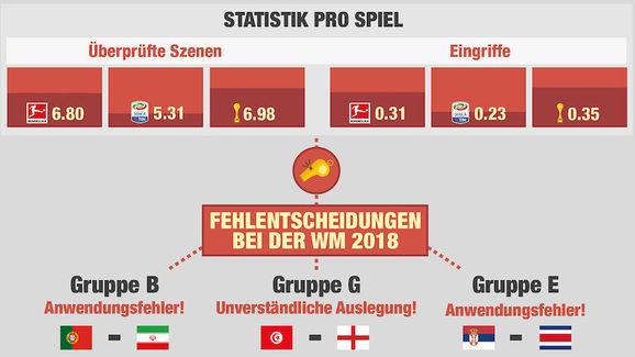 Videobeweis Statistik WM 2018 Daten
