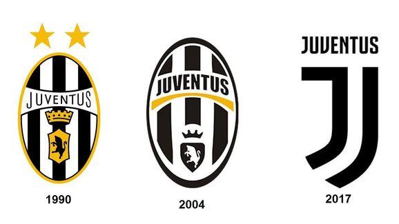 Escudo da Juventus mudou bastante em 30 anos