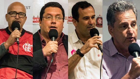 Peruano, Vargas, Lomba e Landim, em ordem