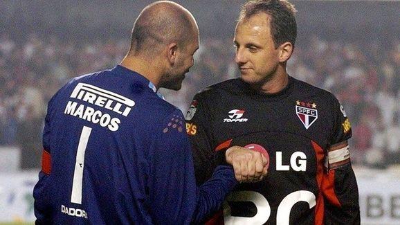 Marcos e Ceni dedicaram suas carreiras à Palmeiras e São Paulo, respectivamente
