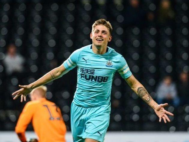Elias Sorensen in action for Newcastle U23's. Image: Newcastle Utd via Getty Images