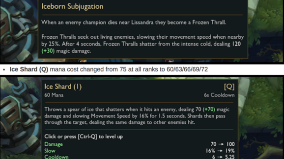 Lissandra Changes Likely to Arrive in League of Legends